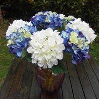 Wholesale 5 Single Jade Hydrangea Diameter Artificial Flower Brides Bridesmaid Bouquets Materials High Quality Wedding Flowers