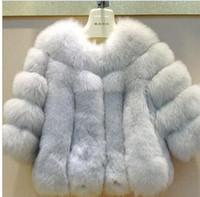 Cheap 2016 New Fashion Winter Fur Jacket Woman Fox Fur Coat For Women's Furs Coats Women Warmest Ladies Overcoat free shipping