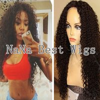 Wholesale Fashion Women Custom Made Kinky Curly Afro Wig Brazilian Virgin Human Hair Curly Wigs Full Lace Glueless front Lace Wig Afro Wigs For Sale