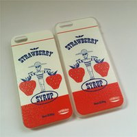 apple fair trade - Customized TPU material Korean mischievous cartoon ohhlala fair trade farmer carrying strawberries iPhone case for sale