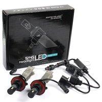 Wholesale 1 Set H13 W LM CREE LED Headlight Hi Low Beam LUXEON MZ Xenon White K V Copper Belt C10