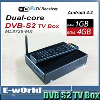 Wholesale Google Android AML8726 MX Dual Core Cortex A9 Processor GB RAM GB ROM Wifi Installed D Media Player TV BOX
