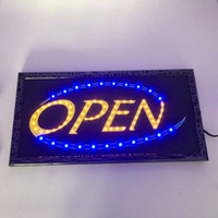 advertising price - 20PCS Factory price squire led open sign animated advertising shop sign