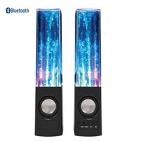 battery fountains - Portable Dancing Water Fountain Bluetooth Speaker Mini USB Flash Card Built in Battery LED Light Voice Box Music Player for Mobile Tablet PC