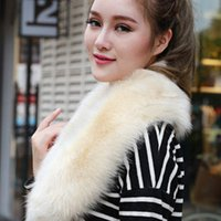 Wholesale new faux fur collar raccoon fur fox Fur collar scarf shawl stole shrug cape Wrap