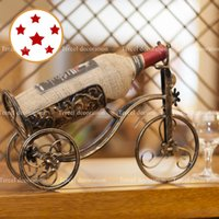 Wholesale fashion home metal wine rack vintage decorative wine holder iron crafts for tv cabinet