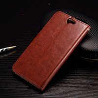 aero bags - 2015 NEW Crazy Horse Wallet Leather Case Stand Oil Photo ID Card Slot Bag Pouch pocket Money For HTC One A9 Aero skin Colorful holder Luxury