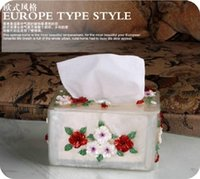 Wholesale Vintage Classics Tissue Boxes Napkin Bag Resin Tissue Box Royal Creative Tissue Sculpture Home Decoration with Environmental Resin