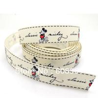 al por mayor mickey mouse cinta impresa-El envío libre 5 Patios Marfil Mickey Mouse 1