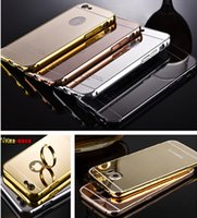 Wholesale S7 Luxury Aluminum Ultrathin Mirror Metal Bumper tomkas Case Clear PC Cover frame for iPhone S Plus S Samsung Galaxy S6 S7 edge note