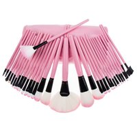 real techniques makeup brush - Real brushes Soft Makeup kit Finish Foundation eyebrow Brush Pouch Bag Case wedding techniques tech brow make up sets pieces box