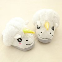 Wholesale New Unicorn Cotton Home Slippers Despicable Me Home Shoes Creative Funny Soft Plush GEEK Grown Ups Winter Warm Indoor Slippers