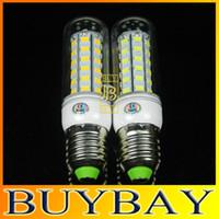 Wholesale New arrival W LEDS SMD5730 E27 E14 G9 GU10 LED V V LED bulb lamp Warm white white Corn Light chandelier