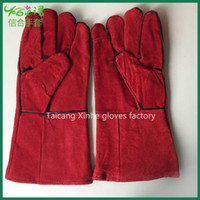 Wholesale Double long palm leather thickness welding work hand glove