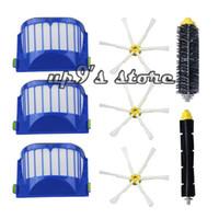 Wholesale 8pcs AeroVac Filter Side Brush Bristle and Flexible Beater Brush Combo for iRobot Roomba