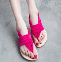 Wholesale New Arrival Gladiator Bohemia Pinch Flat Sandals Cotton Made Flats Women s Shoes Slippers