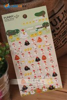 Wholesale New Cute Funny Chick Family Deco D PVC Sticker Decoration Label
