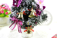 Wholesale Large Bell Decorations - Christmas Decorations Gold Christmas Bell Xmas Tree Ornaments Long Large Bell Ornaments Hanging Christmas Xmas Free Shipping