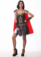 Wholesale Womens zentai Sexy dress Female warrior of Roma Halloween Free Size Costume halloween costume women Silm