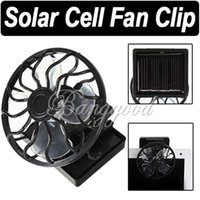 Wholesale Hot Sale Best PC Black Solar Cell Fan Sun Power Energy Panel Clip on Cooling Hat High Quality Cooler For Camping Hiking