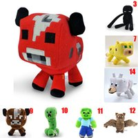 cute doll - 1PC Retail Minecraft JJ red cow Cute plush toy stuffed doll super gift Cheap z