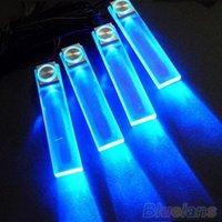 Wholesale 4 In V Blue Car Decorative Atmosphere Lamp Charge LED Interior Floor Decoration Lights VG7