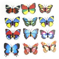 automobile vinyl graphics - Set x cm Three dimensional wall stickers butterfly for fridge automobile or other iron items order lt no track