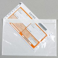 electric comb - Document Sealing Bag Can Stick on the Parcel Protect the invoices Clear One side Tape Glue Bag