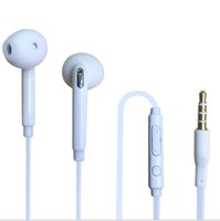 Microphone microphone - S6 Earphone S6 Edge Earphones Headphone Earbuds Jack with Microphone and Volume Control for Samsung Galaxy S6 S5 S4 Black White Color