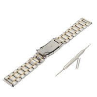 Wholesale Durable Stainless Steel Watch Strap Plain End Watchband with Link Pins and Spring Bar Tool mm mm mm for Option J0447