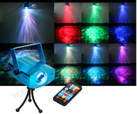 Wholesale Mini Remote color W RGB LED Water Wave Effect Stage Light Party DJ Disco Show