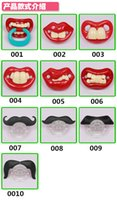 Wholesale Hot Funny Black Silicone Infant Baby Kid Child Pacifier Orthodontic Nipples Dummy Mustache Beard