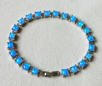 Wholesale Retail Square Blue Fire Opal Bracelet for Gift