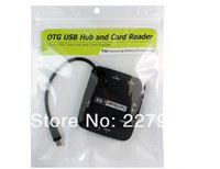 Cheap HOT High-Speed USB Device 3-Port OTG USB Hub +Card Reader Camera Connection Kit for S3 S4 Note2pk1