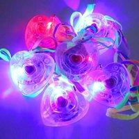 Wholesale LIGHT UP FLASHING LOVE HEART LED NECKLACES CHILDREN GIRLS BOY LED TOY