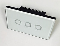 Wholesale 1 Pieces Gang Touch Light Wireless Wall Switch White Black Glass Panel with Remote Control EU Standard US V V