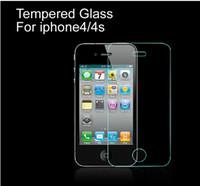 al por mayor película de pantalla iphone4-Para iPhone4 / 4s Buena calidad templado Explosión LCD de la Guardia de Cine de cristal de la pantalla a prueba de la película del protector protector