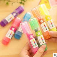 Wholesale Korean Style Multicolor Candy Color Large Capacity Highlighter Fluorescent Pen Markers Glitter Gift Stationery FOD
