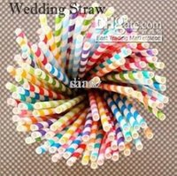 Wholesale Paper Party Straws Vintage Retro paper drinking straw colors optional