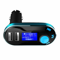Wholesale 2016 Wireless MP3 Player Car Kit FM Transmitter With Dual USB Car Charger Audio Remote Control LCD Display Transmiter