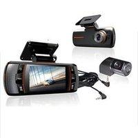 Wholesale Original ls650W Car DVRS Dual Camera lens1920x1080p FPS LCD External IR Rear Camera Allwinner Dashcam Car DVR