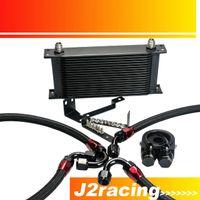 Wholesale J2 RACING STORE NEW BLACK OIL COOLER KIT FOR HONDA S2000 OIL COOLER KITS PQY1090BK