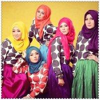 Wholesale 5pcs mixed solid plain hijab scarf fashion wraps foulard viscose cotton maxi shawls soft long islamic muslim scarves hijabs