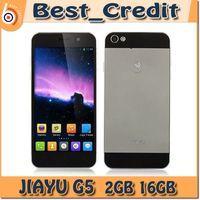 Teléfono original JIAYU G5 Quad Core MTK6589T JIAYU G5 avanzada JIAYU G5 2GB 16GB MTK6592 Octa Core Android del teléfono celular