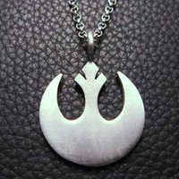 Wholesale High Quality Star Wars Jewelry Rebel Alliance Coat of Arms Silver Pendant Necklace Fashion Statement Jewelry