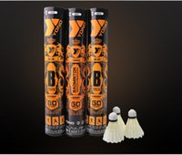 Atacado - de alta qualidade Badminton peteca 5 dúzia CIGU Duck Feather melhor nível de cortiça para o torneio