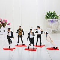 action figures display - 5pcs set cm Michael Jackson Display PVC Action Figures Model Collection