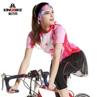 Cheap Wholesale-New Summer Short Sleeve Sweat Suits Women Outdoor Wicking Bike Cycling Jersey Women Mountain Bike Cycling Clothes Suit
