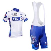 Wholesale 2014 FDJ Team Cycling Jersey Cycling Wear Cycling Clothing short bib suite FDJ B