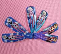 Wholesale FREE Frozen Children Hair Accessories Baby hair clip Anna Elsa Princess Hairpin Ornament BB Clamp Hair Clips Childrens Hairclips